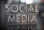 The words SOCIAL MEDIA written in vintage letterpress type